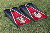 US Women's Soccer Regulation Cornhole Game Set Weathered Triangle Version