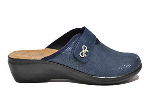 e31e07b644bb4 Fly Flot Ciabatte Donna Blu Anatomiche Anti Shock Q7N023E  Amazon.it  Scarpe  e borse