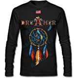 Native American Inspired Colorful Dream Catcher Dream With US Flag Graphic Men's Women's Unisex Long Sleeve T-shirt,072