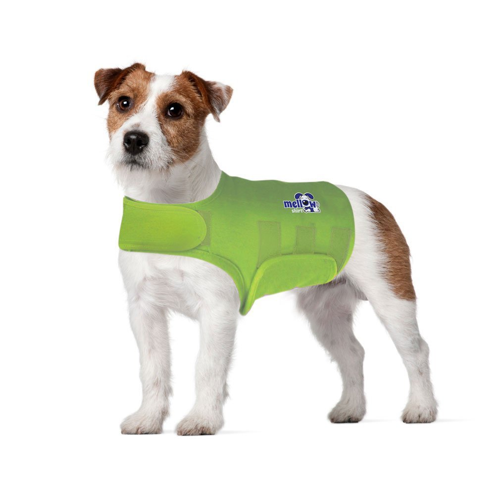 Mellow Shirt Dog Anxiety Calming Wrap Lime Small (20-29 lb)