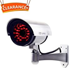 JOOAN CCTV Security Fake/Dummy Camera Outdoor Bullet Camera with 30 Units Illuminating LEDs (No Flash)