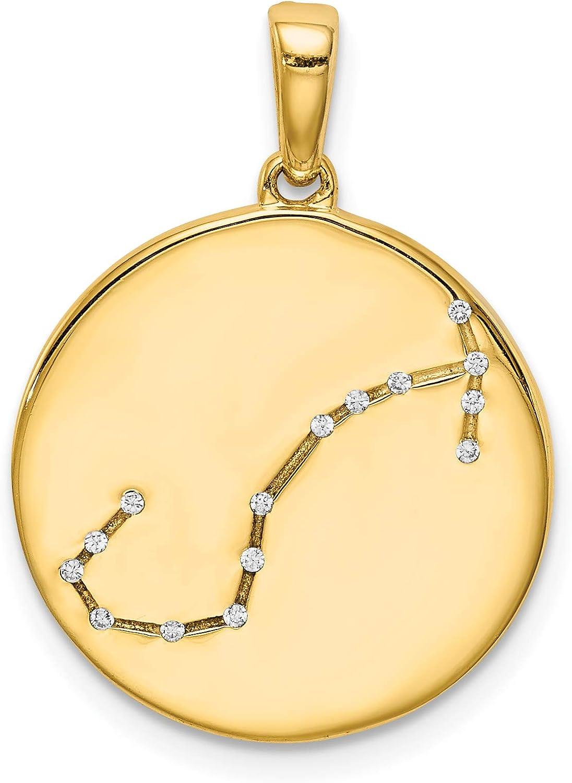 Sterling Silver Gold-plated /& CZ Scorpio Zodiac Pendant