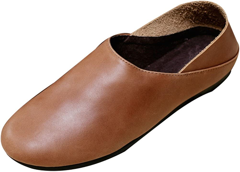 Vogstyle Femme slip on cuir chaussures plates