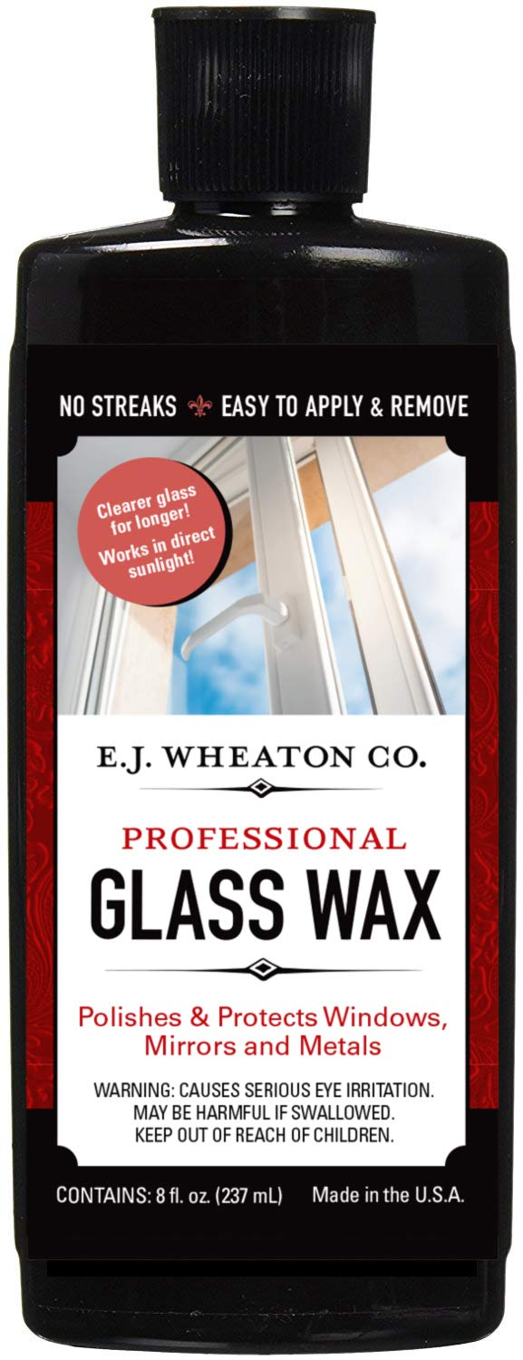 E.J. WHEATON CO. Glass Wax, Polishes and Protects Windows, Mirrors and Metal Surfaces, Dries Chalk White, Easy to Apply and to Remove, Made in USA