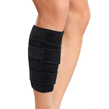 1c2f139123 Doact Calf Brace Adjustable Shin Splint Support Sleeve Leg Compression Wrap  for Pulled Calf Muscle Pain