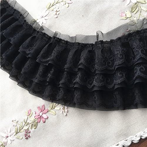 2 Yards Ruffle Mesh Laces Trim Ribbon Dolls Dress Trimmings Sewing Accessories