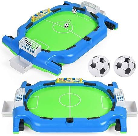 Lomsarsh Nuevo Juego de Fútbol de Mesa de Fútbol de Doble Dedo de Fútbol Mini Bola de Bola de Aro Juego de Juego de Juguete Educativo Interactivo para Niños: Amazon.es: Hogar