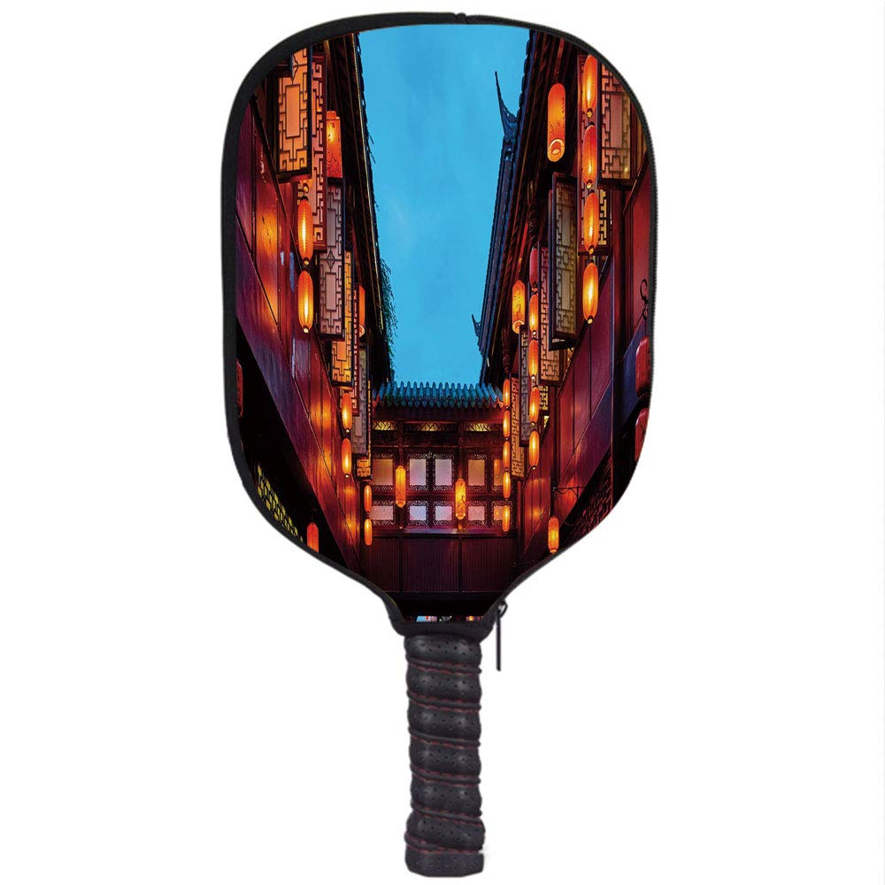 Amazon.com : Neoprene Pickleball Paddle Racket Cover Case, Ancient China Decorations, Jinli Pedestrian Street Famous Historical Place Decorative, ...
