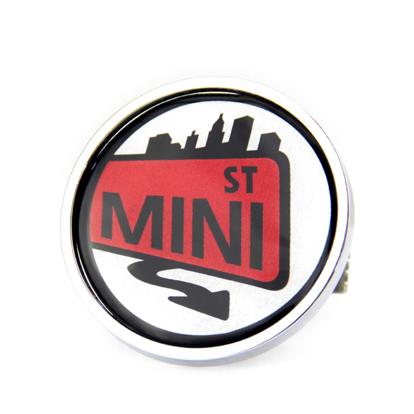 Emblema Adhesivo de Metal para Mini Cooper F54 F55 F56 F57 F60 R55 R56 R57 R58 R59 R60 R61 Hardtop Clubman Hatchback Covertible Roadster Countryman Paceman HDX Parrilla para cap/ó Delantero