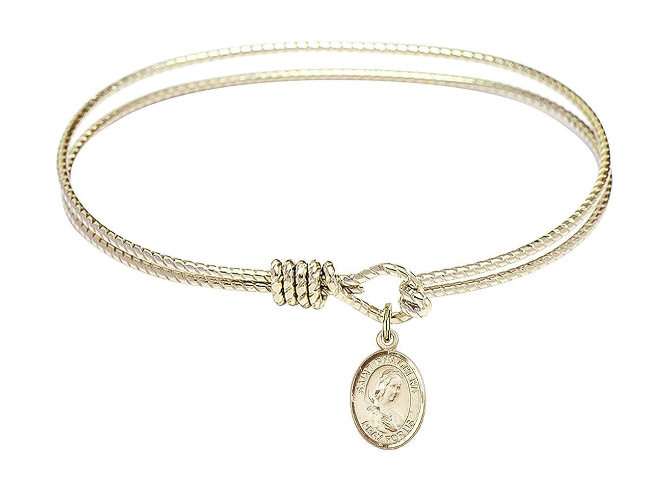 Philomena Charm. DiamondJewelryNY Eye Hook Bangle Bracelet with a St
