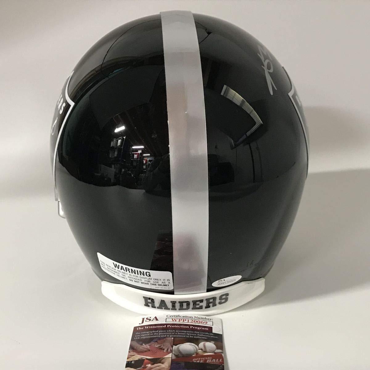 Autographed//Signed Antonio Brown Oakland Raiders Blaze Full Size FS F//S Replica Football Helmet JSA COA