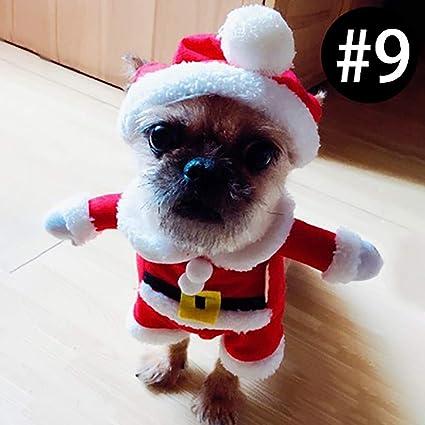 laamei Disfraz de Mascota de Navidad, Halloween Costume Ropa de Vestir Sudadera Abrigo Vestido de Papá Noel para Mascotas Pequeño Cachorro Perro ...