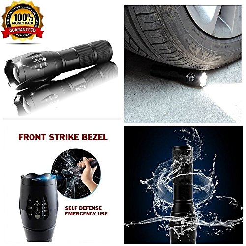 Super&Flashlight | Led Flashlight 10000 Lumens with 5 Modes | Water Resistant | Handheld Light - Best Camping , Outdoor, Emergency, Everyday Flashlights, or (Night Ops Flashlight)