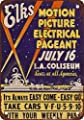 1938 Motion Picture Electrical Pageant at Los Angeles Coliseum Vintage Look Reproduction Metal Signs 6X9 Inches
