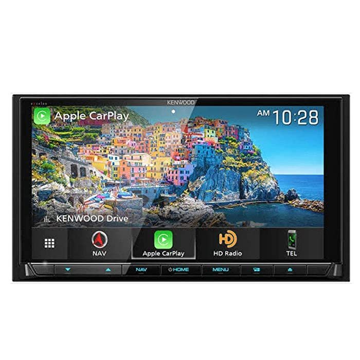 """Kenwood Excelon DNX996XR 6.8"""" DVD Navigation Receiver Compatible with Wireless CarPlay & Android Auto"""