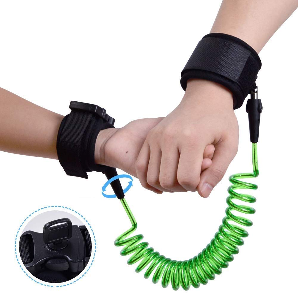 Airhtry-1982 Anti-Lost Rope Child Anti-Lost Traction Rope Safety Rope Anti-Lost Bracelet Anti-Lost Fluorescent Green 2 M