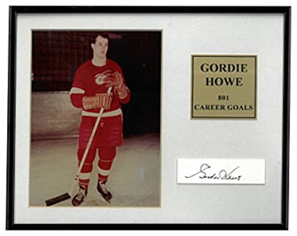 super popular 69941 44dee Gordie Howe Signed Autograph Detroit Red Wings 5x7 Photo Cut ...