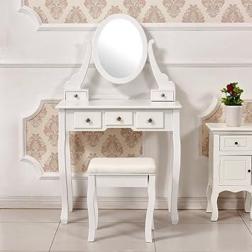 Tason weiß Schminktisch mit schwenkbarer Oval Spiegel und ...