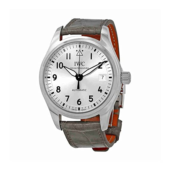 IWC Piloto Plata Dial Automático Mens Reloj iw324007