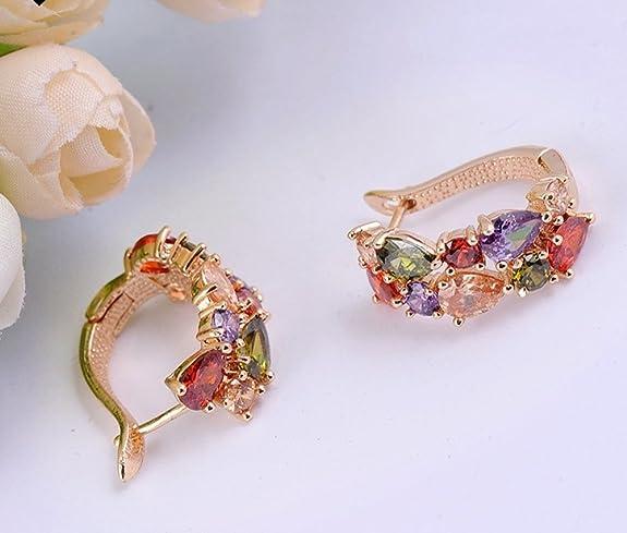 La Vivacita Monalisa Drop Earrings with swarovski crystal 18ct rose gold plated gift for women and girls YbhUaem7h