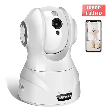 YOHOOLYO Cámara IP WiFi 1080P Full HD Cámara de Vigilancia Cámara Domo con Detección de Movimiento