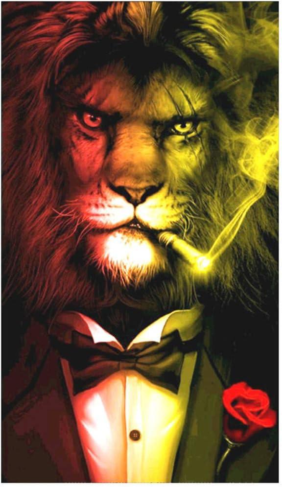 WOBANG 5D Juego de Pintura de Diamantes para Pintar por números, Juego de Pintura de Diamantes con diseño de león y Dulces: Amazon.es: Juguetes y juegos