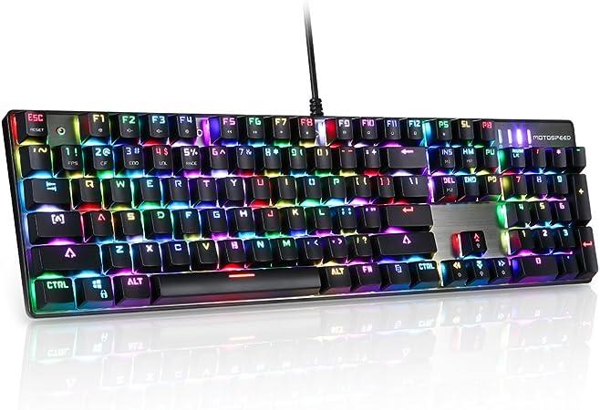 Motospeed Tastatur Verhänger Ck104 Blau Wechselt Computer Zubehör