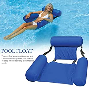 Water Hammock, Pool Lounger Float Hammock Inflatable Rafts Swimming Pool Air Sofa Floating Chair Bed Drifter Swimming Pool Beach Float for Adult