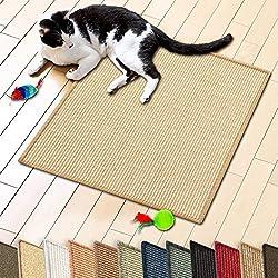 "casa pura Sisal Cat & Kitten Scratching Mat, Natural Beige (20"" x 20"")   Multiple Colors & Sizes Available"