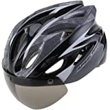 Easecamp Cycling Bike Helmet with Detachable Magnetic Visor Goggles Shield