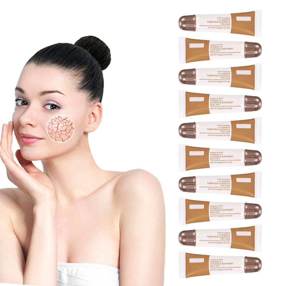 Anti Scar Tattoo Cream, 10Pcs/Set Permanent Makeup Tattoo Repairing Aftercare Recovery Vitamin A&D Ointment Cream Gel