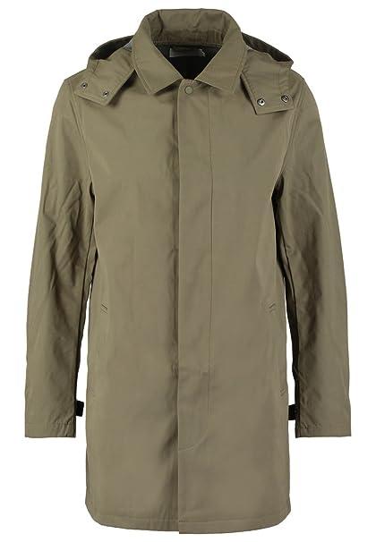 Pier One – Abrigo corto para hombre, liso, color azul marino o verde