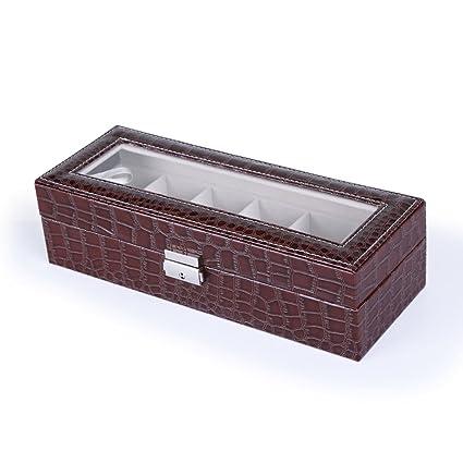 Cajas de joyería decorativas,Caja de reloj Caja de almacenamiento Pu Joyas Contador Pantalla-