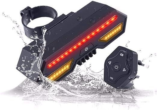 TwoCC❤ Luz para Bicicleta, Luz Trasera Luz Intermitente para Bicicleta Luz Trasera para Bicicleta Luz USB Recargable Ultra Brillante Bicicleta, Control Remoto: Amazon.es: Hogar