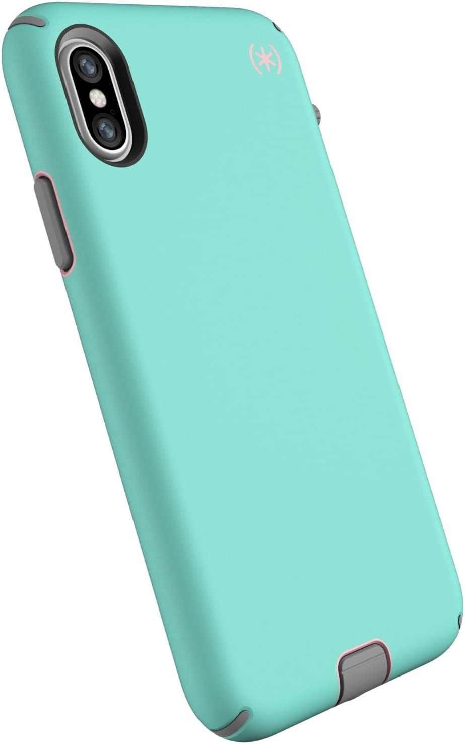 Speck Products Compatible Phone Case for Apple iPhone Xs and iPhone X, Presidio Sport Case, Wave Teal/Tart Pink/Gunmetal Grey