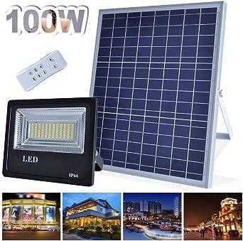 Luz Solar,Proyectores Led Exterior IP66 Hogar Al Aire Libre Luz De Inundación LED De Colores De Control Remoto Patio Jardín Jardín Iluminación De Paisaje Doble Luz De Color Foco Proyector LED: Amazon.es:
