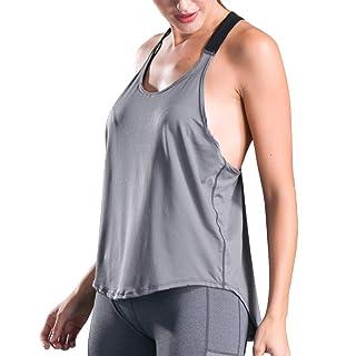 Siswong Canottiere Donna T-Shirt Donna Sportivo Senza Maniche Tumblr Ragazza Magliette Donna Estive Vest Casuale Tops Donna Eleganti Camicetta Donna Gilet Moda Camicie