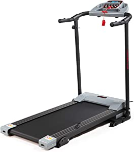 JAXPETY Folding Treadmill 2.0HP Electric Motorized Running Machine w/LCD Display, Drink Holder for Home Gym Exercise Walking Fitness