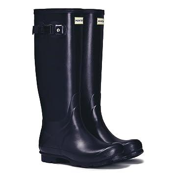 Amazon.com : HUNTER Women's Norris Field Rain Boots Navy Blue 8 ...