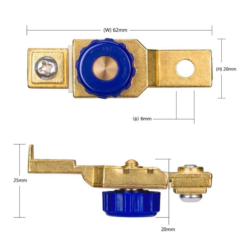 heacker Bater/ía de la Motocicleta Cortar el Interruptor Terminal del Interruptor de la Anti-Salida del Lado del Coche del Anuncio del Interruptor de desconexi/ón de la bater/ía DC12V 80A