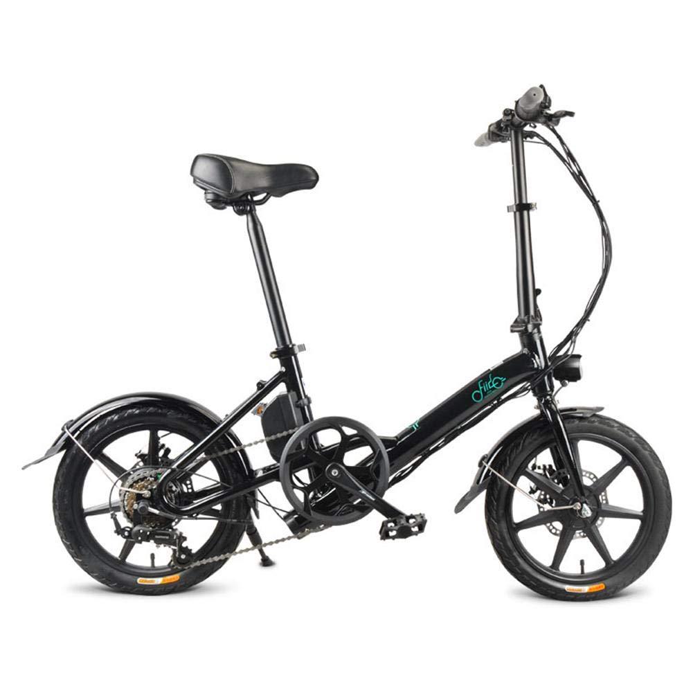 Bicicleta eléctrica Plegable, FIIDO D3s 7.8 Bicicleta eléctrica portátil Plegable,Ebike con Cambio eléctrico asistido de 3 velocidades y Shimano de 6 velocidades, hasta 25 km/h, 18 kg,Negro/Blanco: Amazon.es: Deportes y aire libre