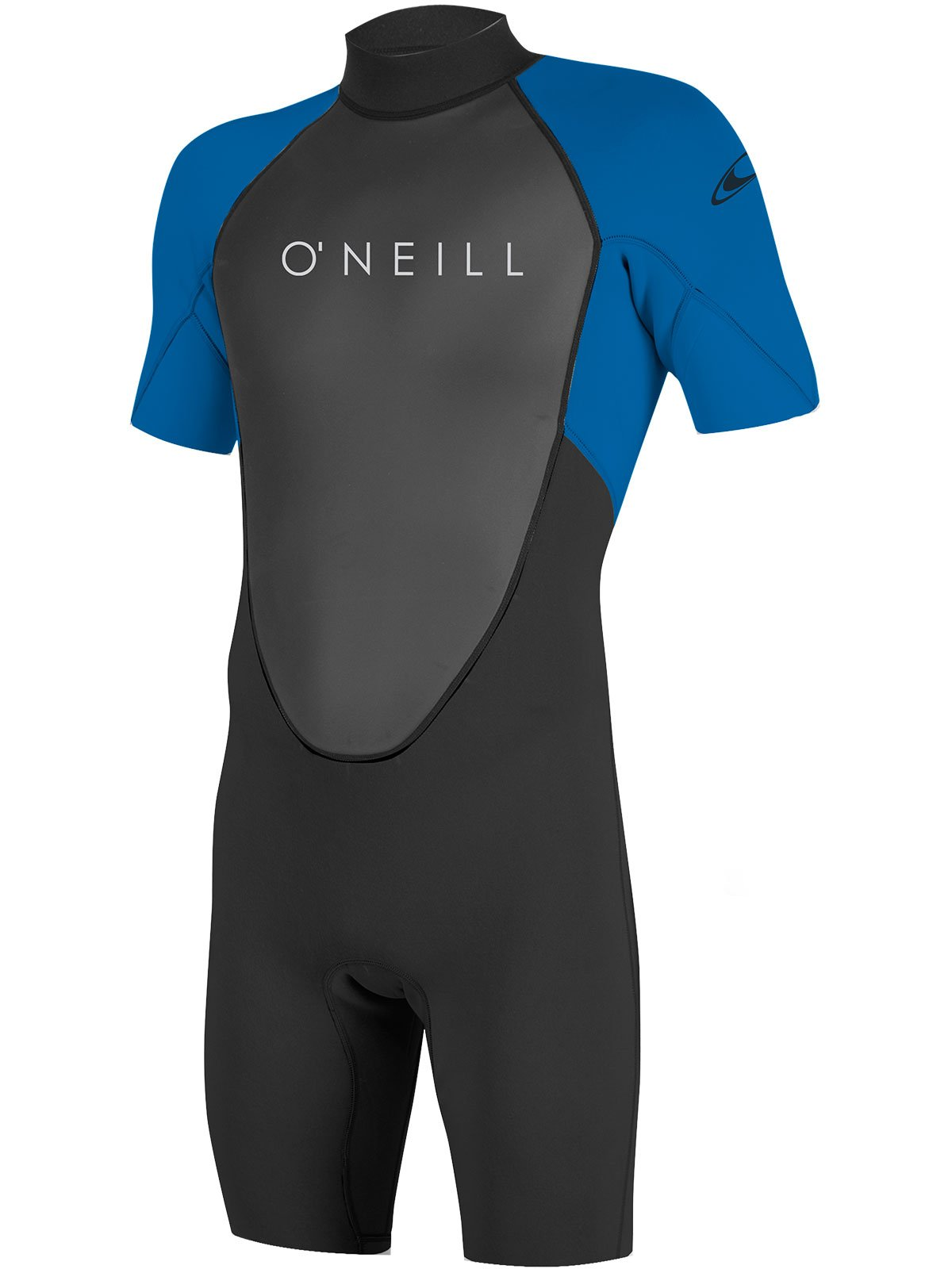 O'Neill Youth Reactor-2 2mm Back Zip Short Sleeve Spring Wetsuit, Black/Ocean, 4 by O'Neill Wetsuits (Image #1)