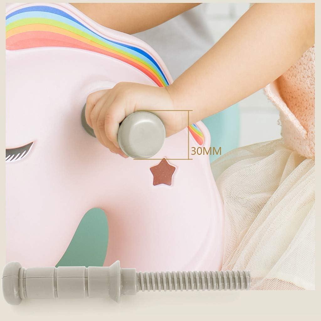 HLJ El Caballo de oscilación de los niños de Troya bebé de Juguete de plástico Almohada máquina de la Historia Regalo del bebé (Color : White) Blue