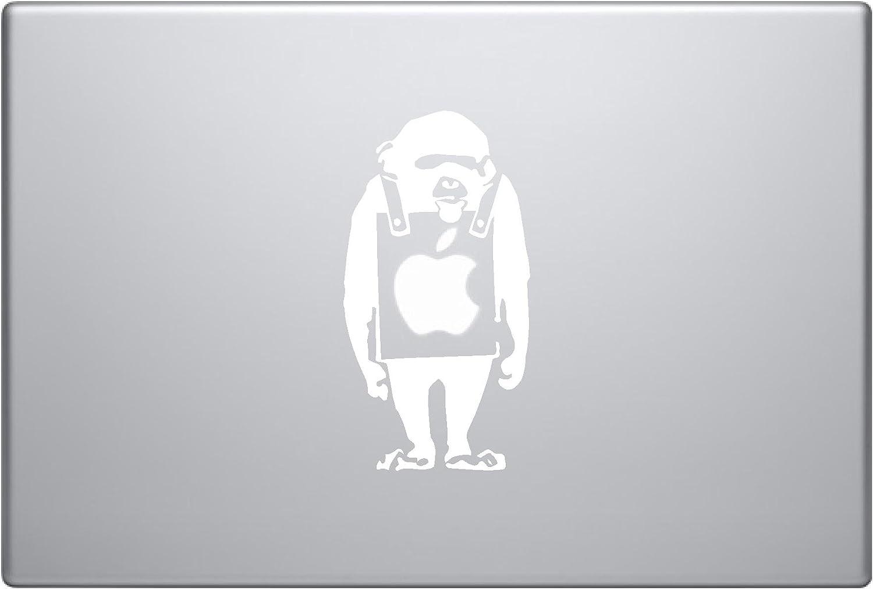 Banksy Monkey with Sign Vinyl Car Sticker Symbol Silhouette Keypad Track Pad Decal Laptop Skin Ipad MacBook Window Truck Motorcycle