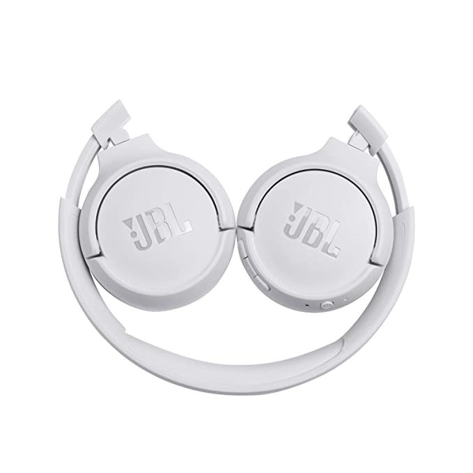 JBL Tune500BT - Auriculares supraaurales inalámbricos con conexiones multipunto (asistente de voz Google now o Siri, batería de 16h) color blanco: ...