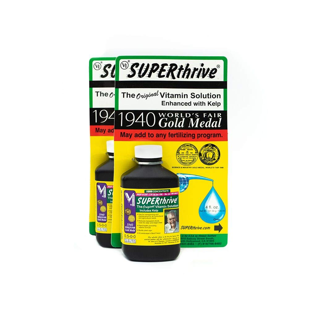 SuperThrive Original Vitamin Solution with Kelp for All Plants, 4 oz. (2 Pack)