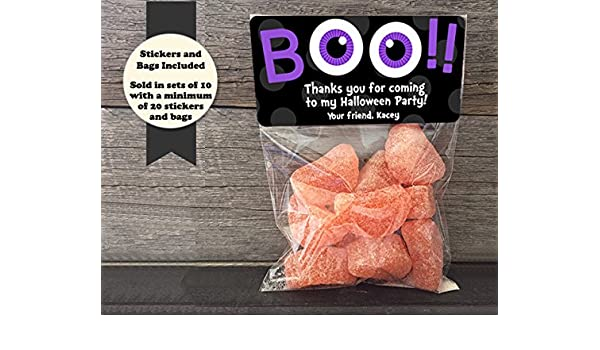 32ccae869a45 Amazon.com  Boo Googly Eyes Halloween Personalized Treat Bags and Stickers