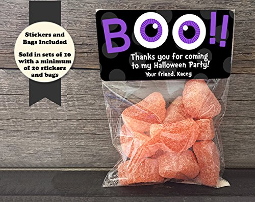 912610a8fdc0 Amazon.com  Boo Googly Eyes Halloween Personalized Treat Bags and ...