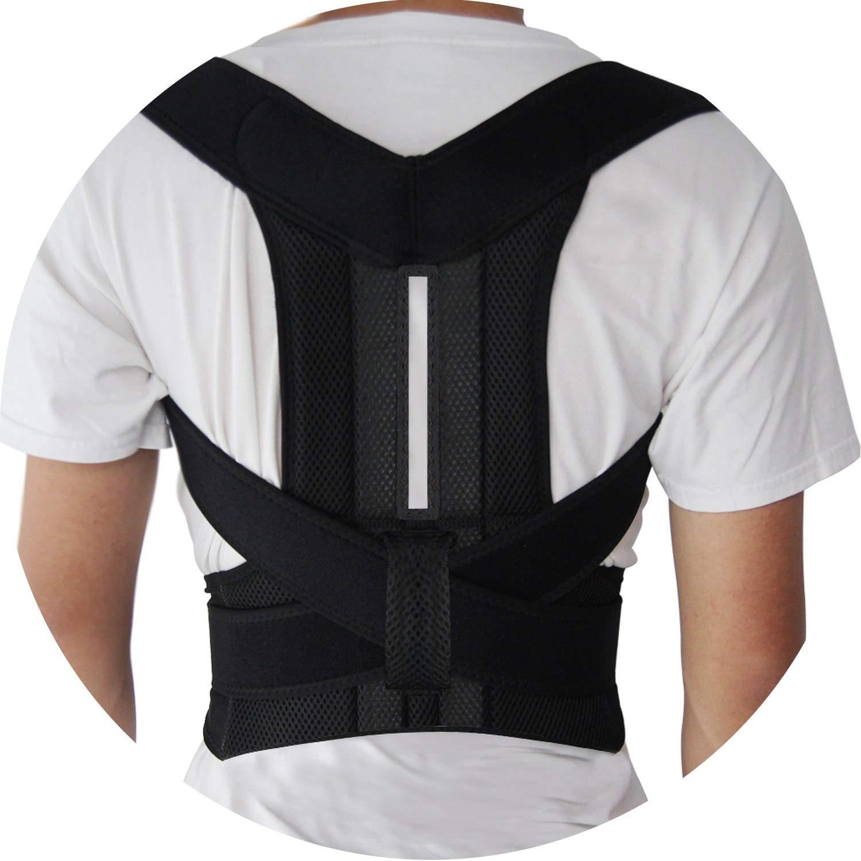 Back Posture Corrector Shoulder Lumbar Brace Spine Support Belt Adjustable Adult Corset Posture Correction,M