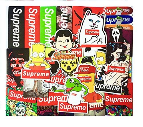 Supreme Sticker 25pcs IPad MacBook Motorcycle Luggage Vintage Skateboard Waterproof